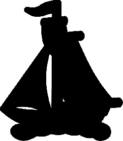 water, black, silhouette, boat, ocean, sail, float