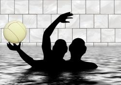 water polo, pool, ball, swim, water, water sports
