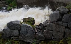 water, river, white water, rocks