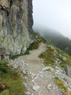 way, top, the path, cliff, rock