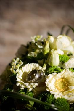 wedding, bouquet, flowers, florist, flora, white, green