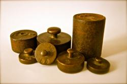 weights, iron, kilo, grams, copper, metal, stainless