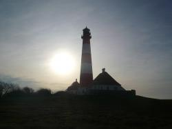 westerhever, north sea, lighthouse, nordfriesland