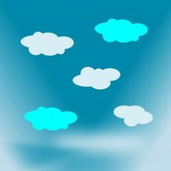 white, blue, sky, clouds, cloud, weather, illustration