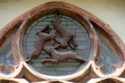 window, animal, hare, hare window, paderborn