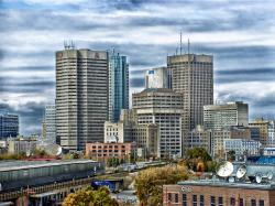winnipeg, canada, cityscape, buildings, architecture