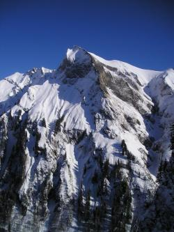 winter, mountaineering, alpine, mountains, cold