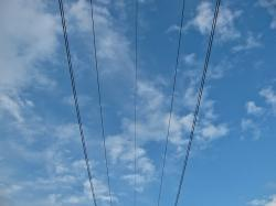 wire, wires, line, lines, sky, blue sky, colors, blue