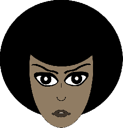 woman, face, afro, black, simple, girl