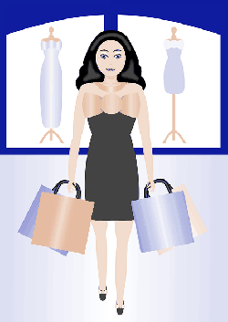 woman, shopping, retail, bags, clothes, dress, gifts