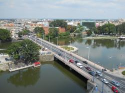 wroclaw, poland, city, buildings, bridge, vehicles