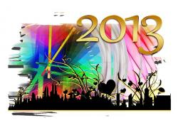 year, 2013, welcome, illustration, new year's day