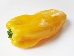 yellow, bell, pepper, paprika, vegetable, food, white