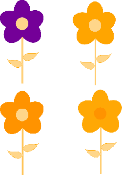 yellow, flower, flowers, purple, orange, pink, spring