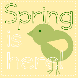 yellow, march, spring, bird, easter, cute, chick