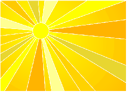 yellow, sun, light, free, summer, sunshine, ray
