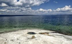 yellowstone lake, wyoming, usa, landscape, scenery