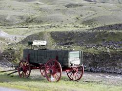 yellowstone national park, heritage, old wagon, wood
